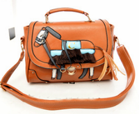 Pretty lady beautiful horse leather shoulder bags 2015 alibaba supplier women handbag