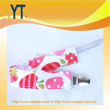 Lovely pink apple and strawberry baby pacifier clip holder/Baby Bibs holder