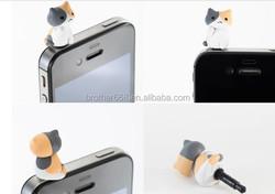cat ear cap for cellphones/vinly dust plug