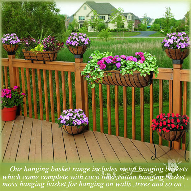 Green Field Wire Hanging Baskets Wholesale,Wholesale