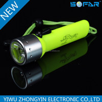 LED Underwater Torch Light1w Diving Flashlight for Diving Use AA Batteries