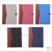 Jean leather case for ipad pro 12inch, for ipad pro leather case cover hot selling