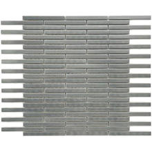 hairline silver brick stainless steel mosaic tile-- metal mosaic