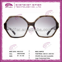 Large Size Acetate Men 2012 New Model Sunglasses