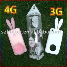 rabbit shape case for iphone3G 4G