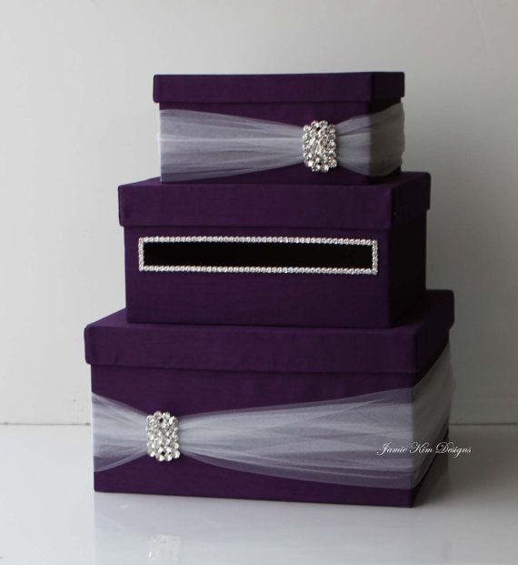 Wedding Gift Box,Bling Card Box,Rhinestone Money Holder - Custom Made ...