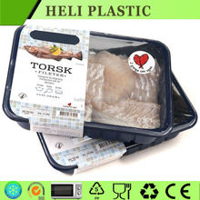Disposable Plastic frozen meat/pork/beef tray/container