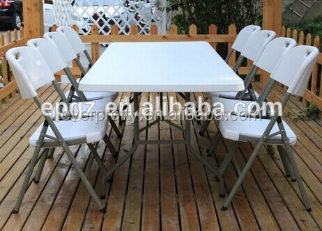 Elegant Outdoor Folding Table And Chairs Garden Bear Plastic Table And Chairs