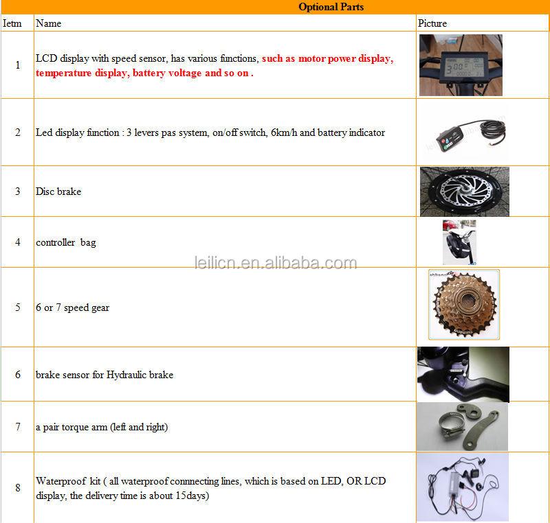 Hub motor 36v 250W electric bike motor conversion kits