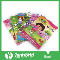 Good quality children book printing english learning book for beginners