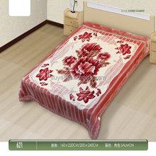 Popular new designs woven baby cot sheet blanket