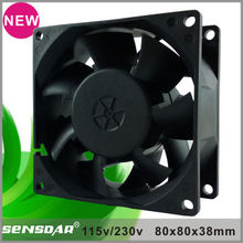 49CFM Aluminum alloy 120VAC 8038 exhaust fan ventilation fan panel cooling fan