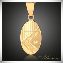 18K Gold Vacuum Plated Best Friend Forever Pendant
