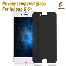 Protect your privacy! New anti peeping material, Privacy Screen Protector for iPhone 6 tempered glass screen protector