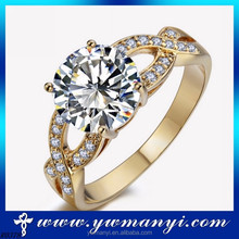 Top sell unique fashion zircon The Best Selling grace wedding engagement rings