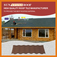 Ce Certificate Shingle Mixed Color Stone Coated Steel Roofing Tiles