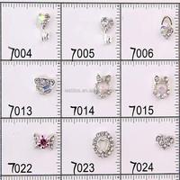 2015 Newest crystal alloy 3d nail charm