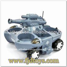 tiro anfibio rc tanque de pistas