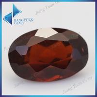 natural indian hessonite red garnet gemstone
