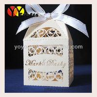 Decorative paper customized laser cut wedding box wedding favour boxes
