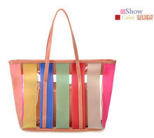 Jelly Color PVC beach bag Tote PVC colorful beach bag 2013