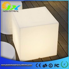 Charming rechargeable rgb glowing led bar cube table led light up cube table
