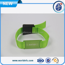 Low Frequency 512bit Re-writable EM4205 / EM4305 Chip Adjustable Fabric Wristband