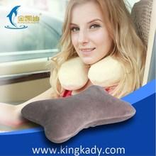 2015 New Wholesale Memory Foam Confirtable Bone Shape Car Pillow,folding travel neck pillow