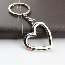 Factory wholesale key chain personalized metal heart photo frame key chain
