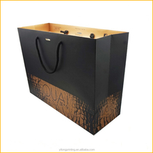 2015 new design OEM foldable paper shopping bag manufacturer