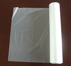 hdpe clear plastic flat food bag on roll food grade factory made in china