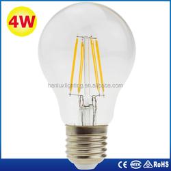 A60 4w/430lm led filament bulb E27 CC driver