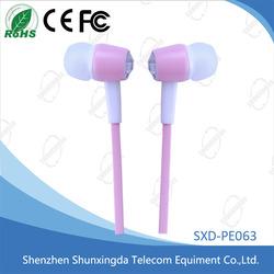 Plastic Shining Colorful Stereo In-ear Headphone with 3.5mm Connector
