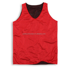 Wholesale cheap blank training practice reversible mesh basketball jersey