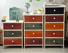 antique multi- color chest of drawer with waterproof board