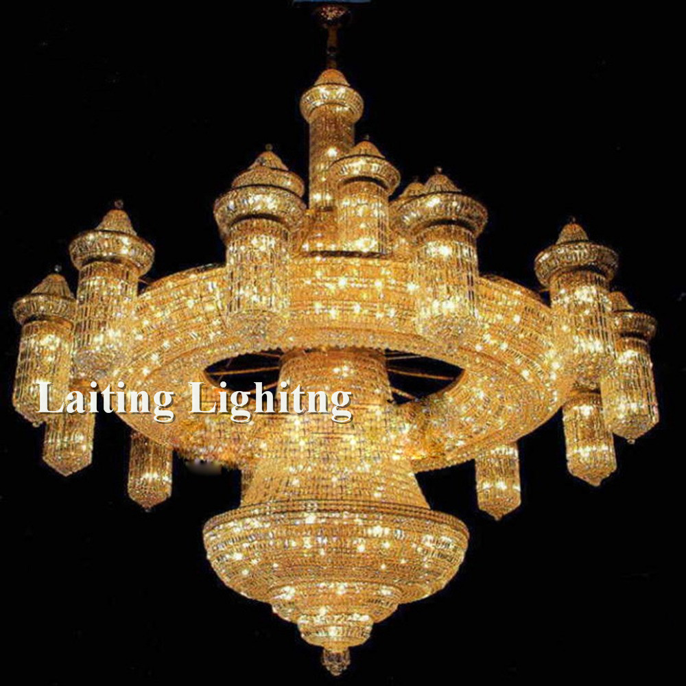 Crystal custom made mosque big chandeliers buy mosque big luxury super large custom made modern crystal chandelier aloadofball Choice Image