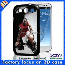 High quality wholesale 3D mobile phone case for Samsung i9300 with 3D basketball star