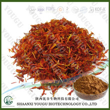 Chinese ISO manufacturer supply Herb Safflower Carthamin extract powder