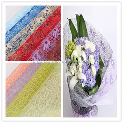 china gold supplier colorful mesh roll for flower wrapping holiday decoration mesh roll
