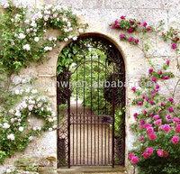 2014 hot sale powder coated metal garden gates (factory)