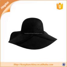 Black Women's Ridge Wide Floppy Brim Summer Beach hat