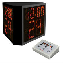 Three side basketball 24 seconds shot clock/ high quality wide LED screen timer