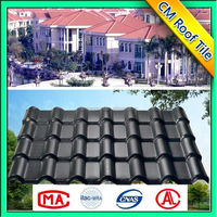 Non-flammable color fast environmental friendly energy saving synthetic resin roof tile