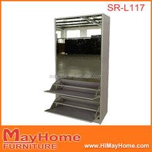Large design 5 mirror doors tall shoe cabinet