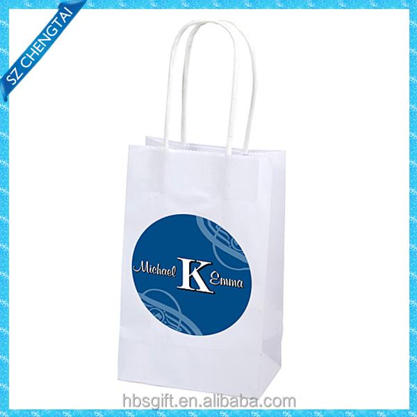 customized durable printing kraft shopping paper bag