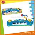 24 teclas de venta al por mayor instrumento musical micrófono de órgano electrónico