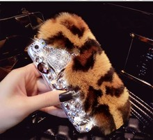 Metalik China New Arrival Phone Case Wholesale White Rabbit Fur Phone Case For Mobile Phone