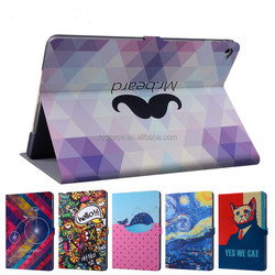 cover for tablet IPAD AIR 2 PU leather print case , high quality Dongguan manufacturer