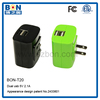 2 usb port universal travel adapter charger solar cell charger for laptop power bank charger 30000mah