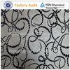 Modern strip design white velvet flock mock suede fabric
